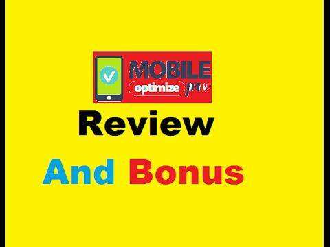 246 Mobile Optimize Pro Review Demo ② Mobile Optimizer Pro Bonus