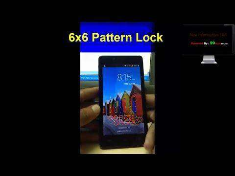 486 6x6 5x5 4x4 pattern lock On Any Android phone [ Android Security]