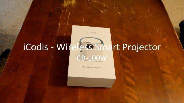 582 iCODIS CB-100W Wireless Mobile Smart Projector Review and Demo