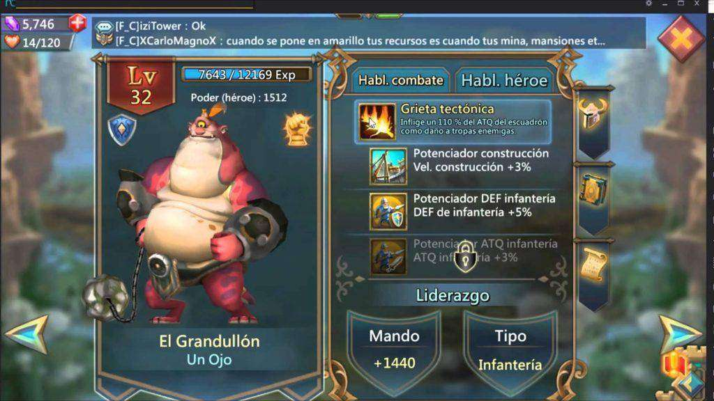 904 Lords Mobile Español: Review de Un Ojo - El Grandullón