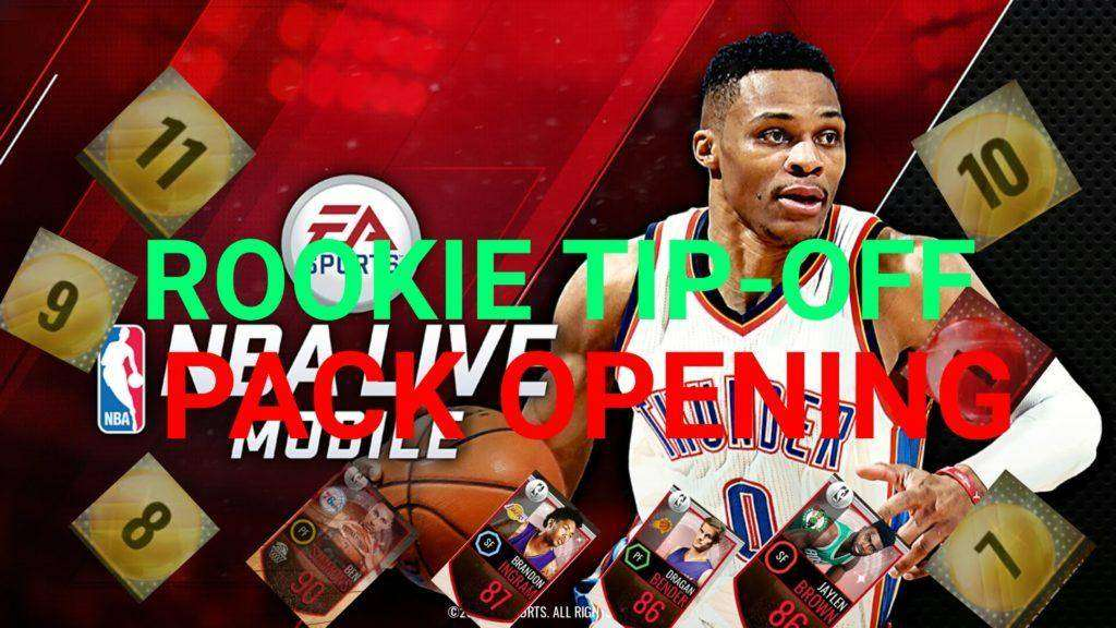 1171 ROOKIE TIP-OFF PACK OPENING!! NBA LIVE MOBILE! PLUS UPDATE REVIEW AND 250K GIVEAWAY AT 50 SUBS