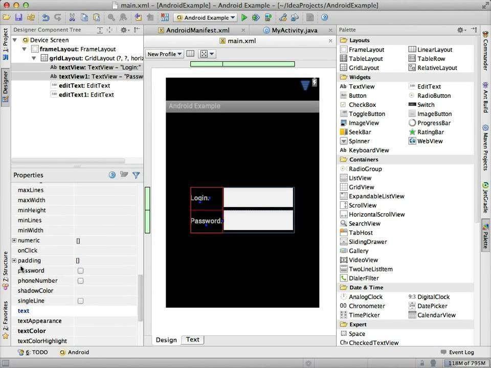 1216 Android UI Designer in IntelliJ IDEA 12