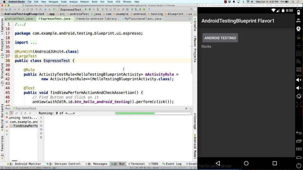 1257 Android Testing Blueprint walk-through