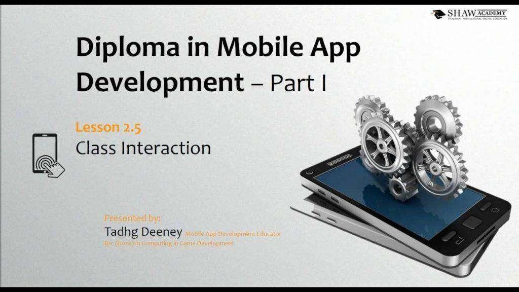 1302 Shaw Academy Mobile App Development Review | Lesson 2