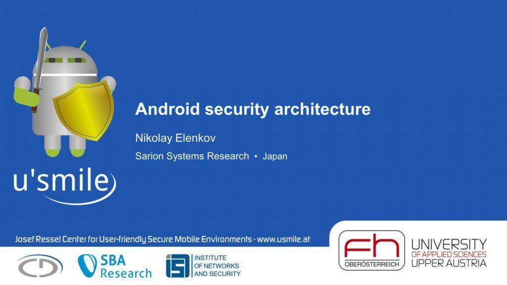 1339 Android security architecture (by Nikolay Elenkov)