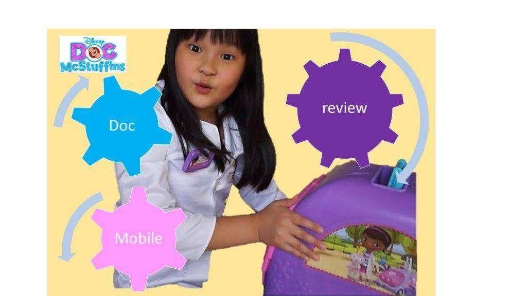 1590 DOC MCSTUFFINS Get Better Talking Mobile with Doctor Kit Toy Review | Disney Jr.