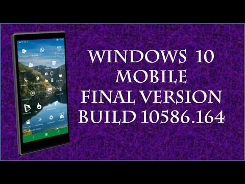 2143 windows 10 mobile Final Version | REVIEW build 10586.164