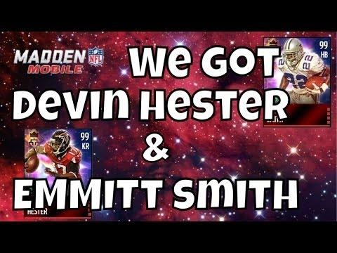 2490 How to get Emmitt Smith and Devin Hester for Free - Review - Gameplay - Stats - Madden Mobile NFL 16