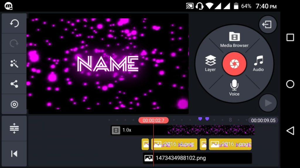 2561 HOW TO MAKE A COOL PINK INTRO FROM ANDROID (Kinemaster)