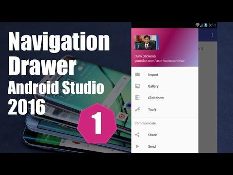 2569 Latest Android Studio Navigation Drawer Tutorial (Part 1) - 2016