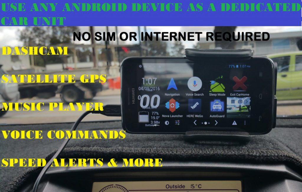 2725 How to use any android as a car Dash cam, Satellite GPS, Media player