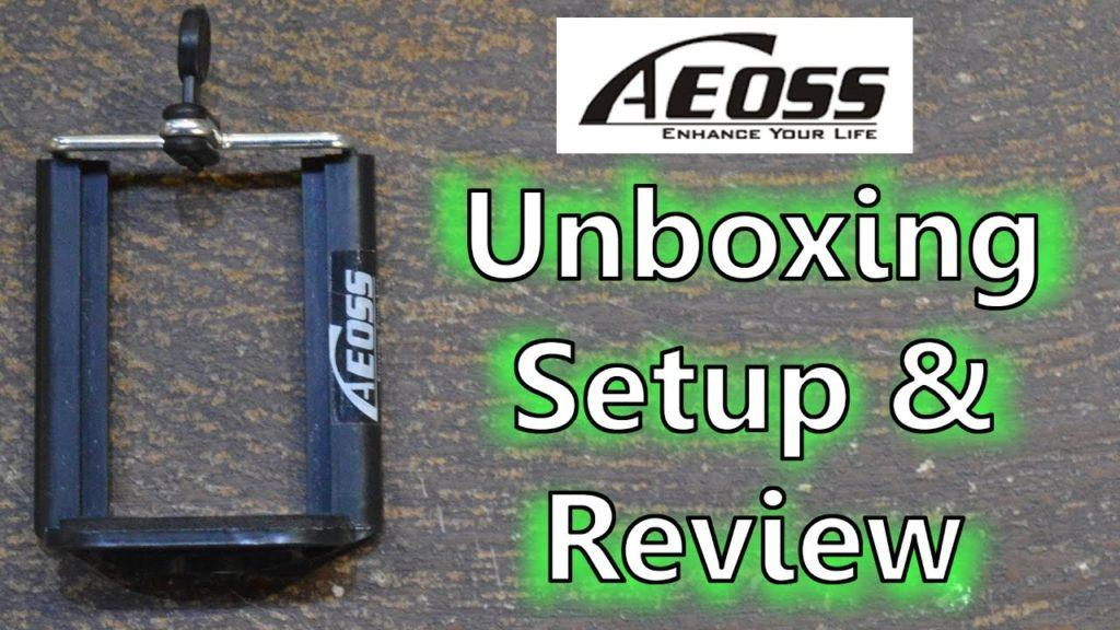 2734 Best!! Bracket Holder Adapter of Mobile Phone for Tripod by Aeoss   Unboxing, Setup and Review