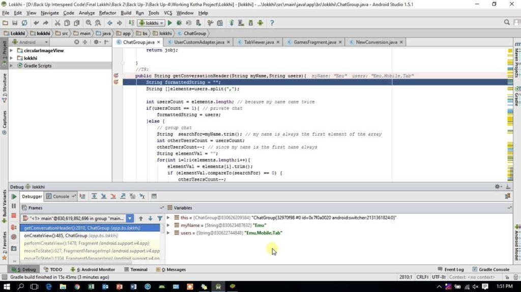 2863 How to debug android app in use breakpoint in android studio