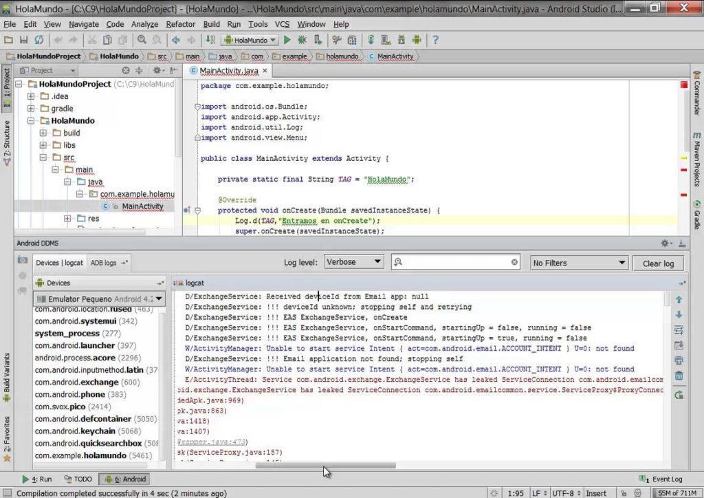 2905 Depurar con LogCat en Android Studio