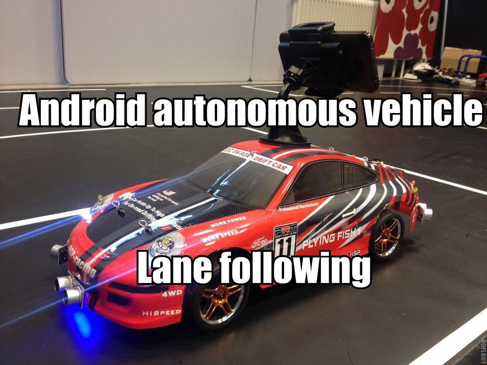 3103 Android autonomous vehicle - Lane following