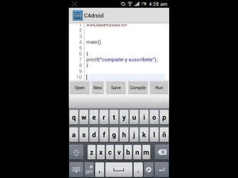 3309 programar en lenguaje c, c++ en android con c4 droid