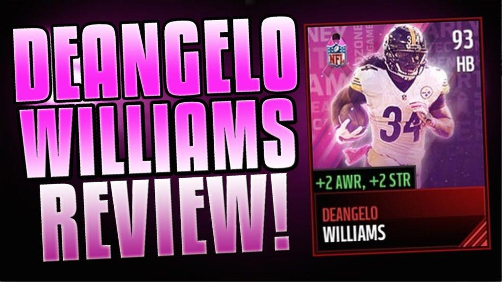 3362 93 DEANGELO WILLIAMS REVIEW! BEST HB IN THE GAME! BCA MASTER PROMO CARD! MADDEN MOBILE 17