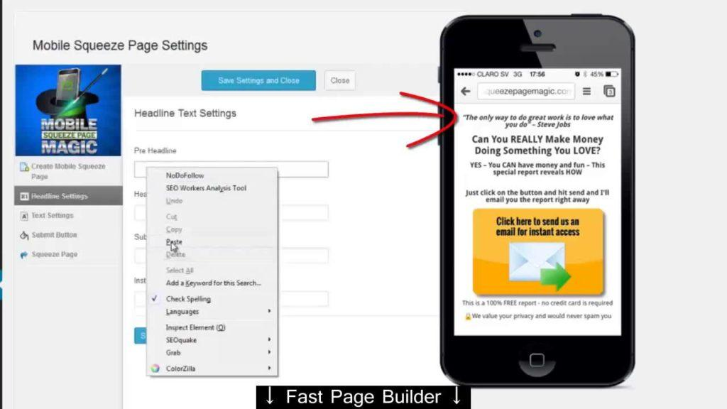 3693 Mobile Squeeze Page Magic - 400 % additional leads   Mobile Squeeze Page Magic Review - landing