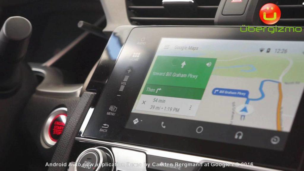 4069 Android auto new demo Google I/O
