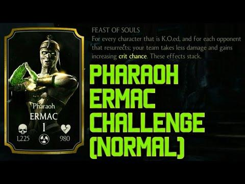 4413 PHARAOH ERMAC CHALLENGE (Normal) REVIEW.  Last Towers and Boss Battle. MKX MOBILE 1.9 NEW UPDATE