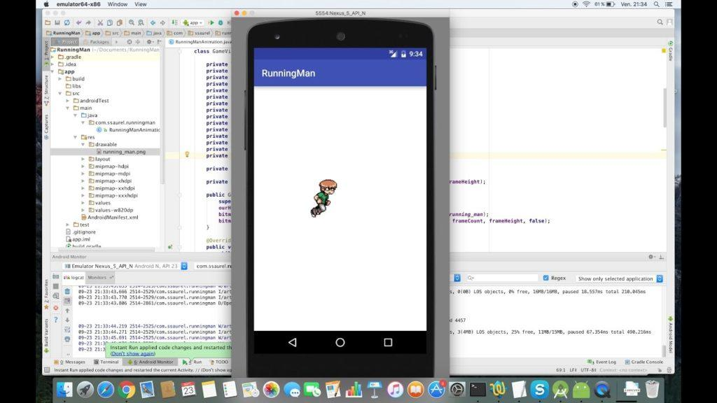 4432 Create a Running Man Game Animation on Android
