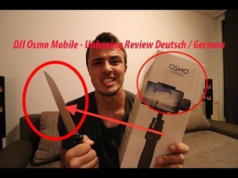 4491 DJI Osmo Mobile Unboxing Review Deutsch German