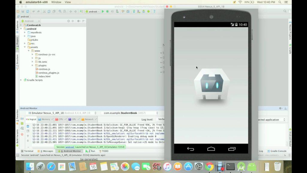 4537 Creating an installable mobile app in Android Studio using Ionic framework and Cordova