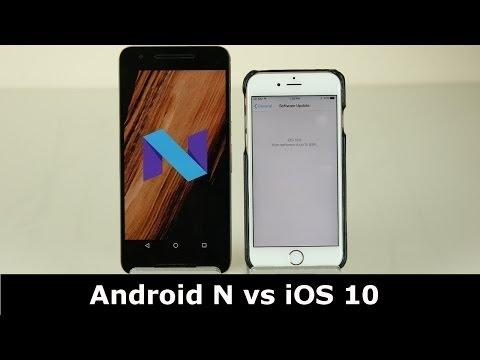iOS 10 vs Android N 7.0 Nougat : Side by Side Comparison