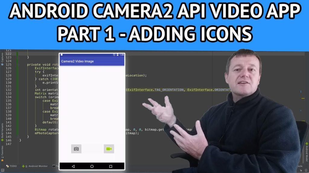 4661 Android Camera2 API Video App - Part 1 How to add icons using android studio
