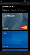 Microsoft Wallet allows you to select a card for Tap to Pay