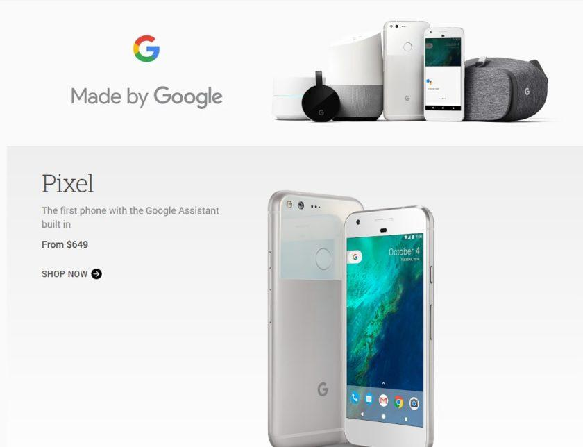 Google Store clears Nexus 6P, Nexus 5X, and a few other non-Google branded products