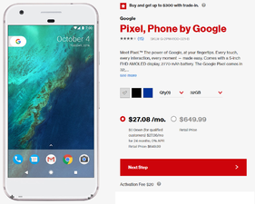 5939 Save up to $400 when you purchase the Google Pixel or Google Pixel XL from Verizon