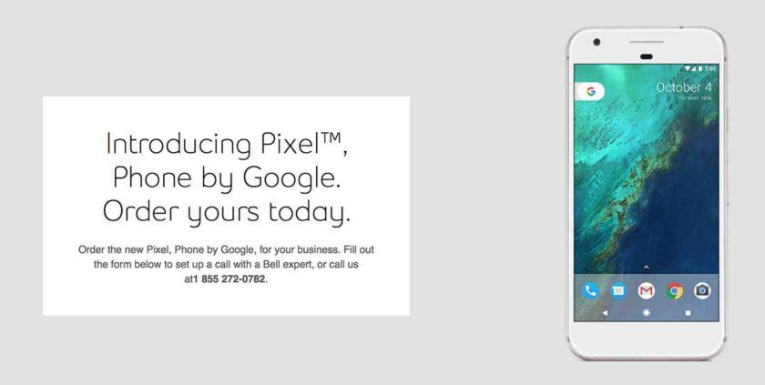 2531 White Google Pixel and Pixel XL leaked by Bell