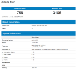 5090 Xiaomi Meri is benchmarked on AnTuTu and Geekbench