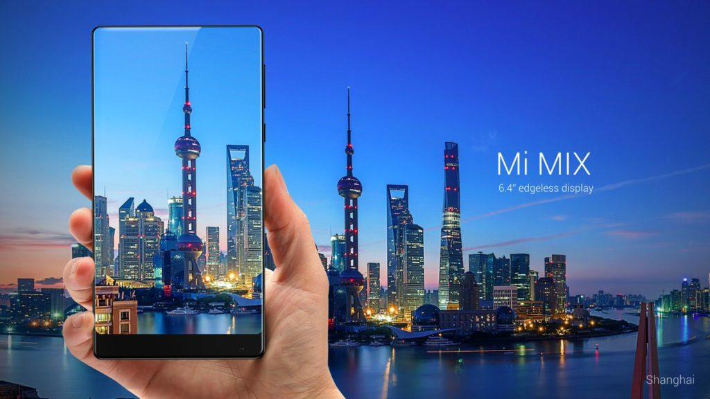 Xiaomi launches Mi MIX concept phone with a 91.3% screen-to-body ratio