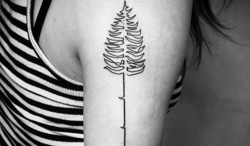 23814 Суперкрасивые татуировки, нарисованные в одну линию