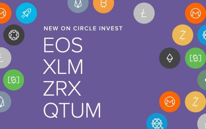 69381 Платформа Circle Invest добавила поддержку EOS, Stellar, 0x и Qtum