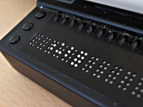 107507 Брайлевский дисплей или как читать с компьютера на ощупь