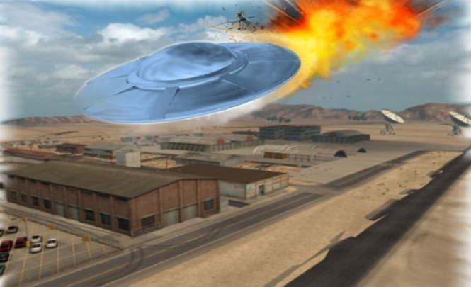 116597 Видео крушения НЛО над Зоной 51 попало в сеть