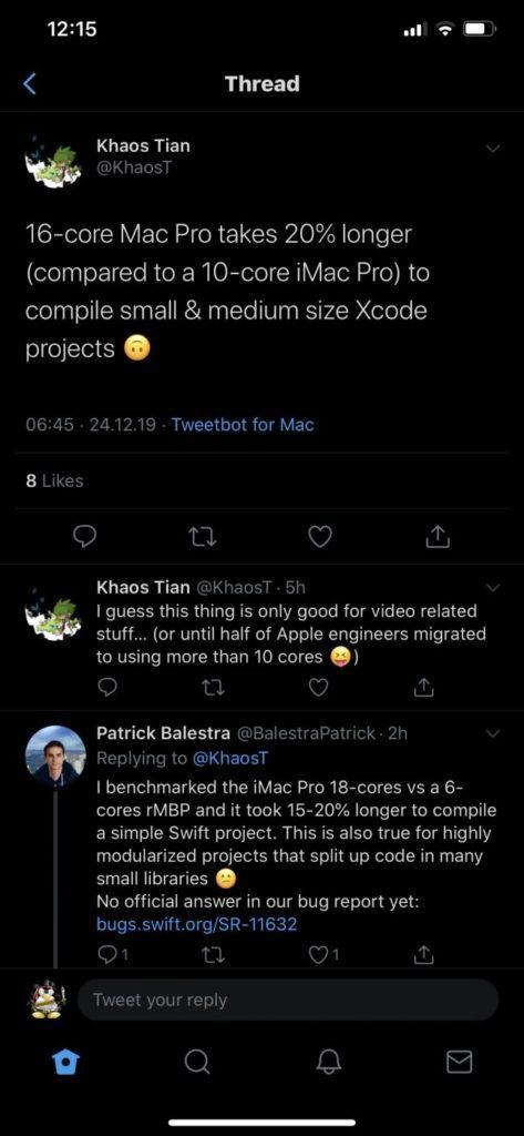 117239 Новый Mac Pro собирает проекты медленнее предшественников