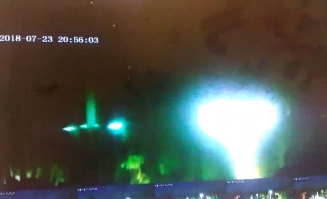 117383 Охранник запечатлел старт НЛО